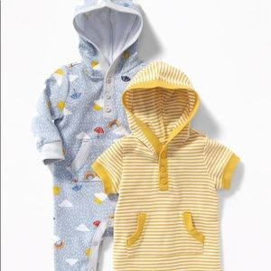 ☂ ☔️ Baby Hooded One-Piece 2-Pack for Baby ☀️
